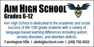 AIM High School, Farmington Hills, Michigan. Aim High is a 6th-12th grade, tuition-based private school that provides an educational alternative